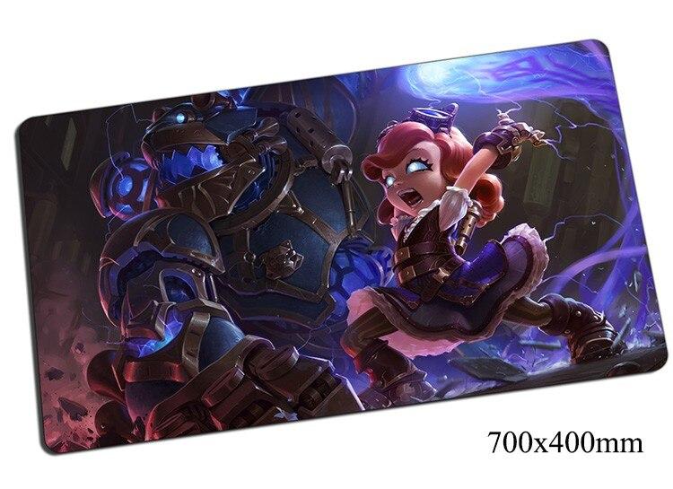 Tapete de rato annie 700x400x2mm gaming mousepad engrenagem lol gamer tapete de rato jogo computador criança escura padmouse foto jogar esteiras