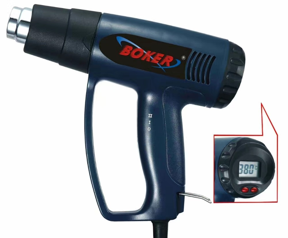 Control inteligente 2000W 220V pistola de Calor Industrial termorregulador de la boquilla del calentador de envoltura pantalla LCD aire caliente eléctrico gran oferta