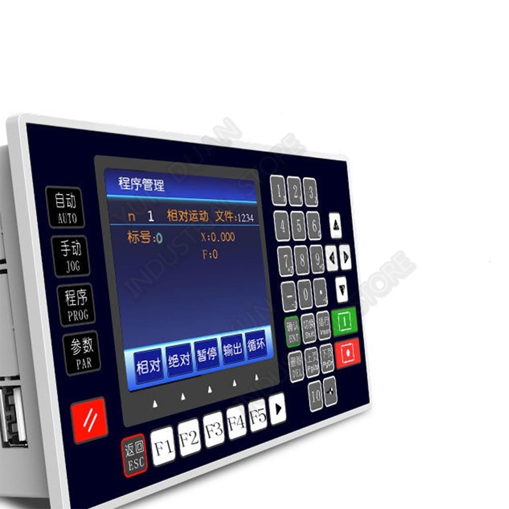 "3,5 ""TFT 4 Axis CNC controlador de movimiento 200KHz USB RS485 sin conexión controlador independiente para servomotor paso a paso enrutador de grabado"