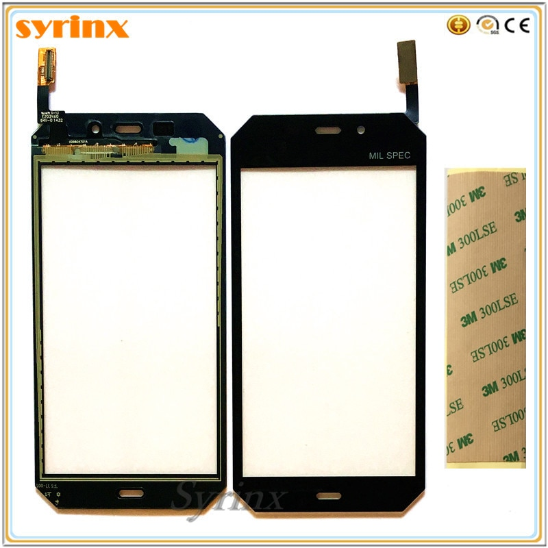 Syrinx TouchPad Para Caterpillar CAT S50 Sensor de Sensor de Toque de Vidro Do Painel Frontal Digitador Da Tela de Toque Touchscreen + 3 m Adesivos