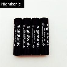 Original (numéro de batterie 12 ) NightKonic 1.2V MH AAA batterie NI-MH batterie Rechargeable noir