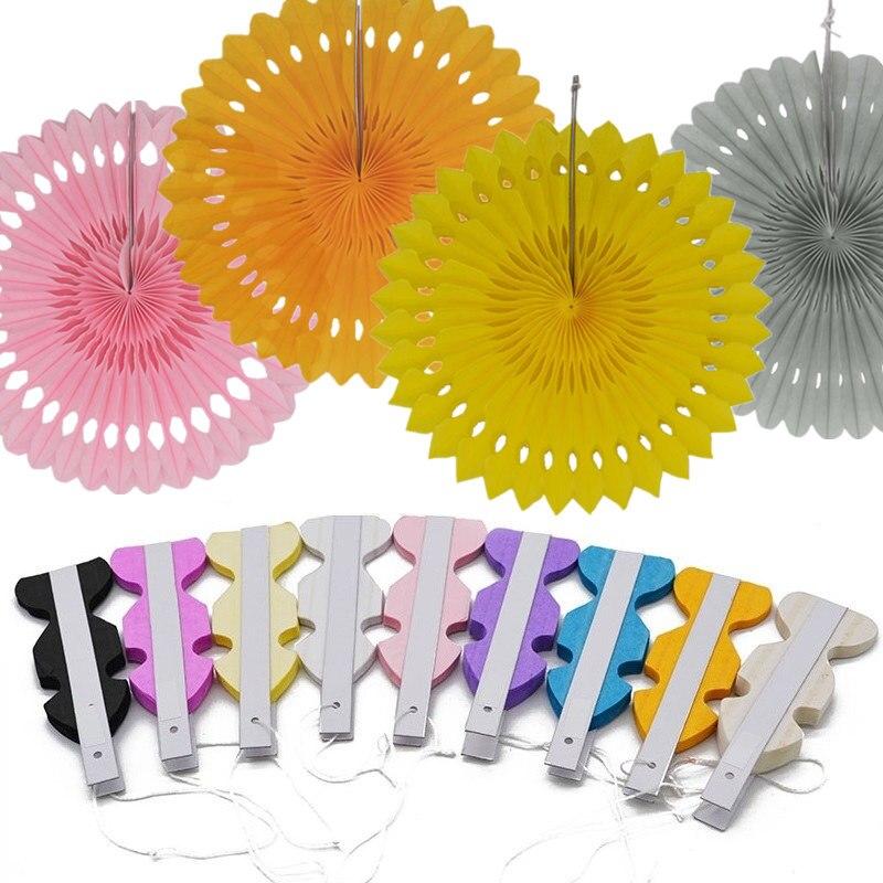 1pc 20/25/30 センチメートル風車うちわ花ティッシュペーパークラフトの結婚式のベビーシャワーの誕生日パーティー装飾用品