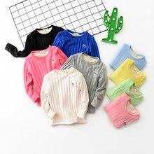 V-TREE de lana para niñas, camisetas gruesas para niños, sudadera de manga larga para niños, camisetas para niños, blusa para adolescentes, prendas de vestir exteriores para niñas
