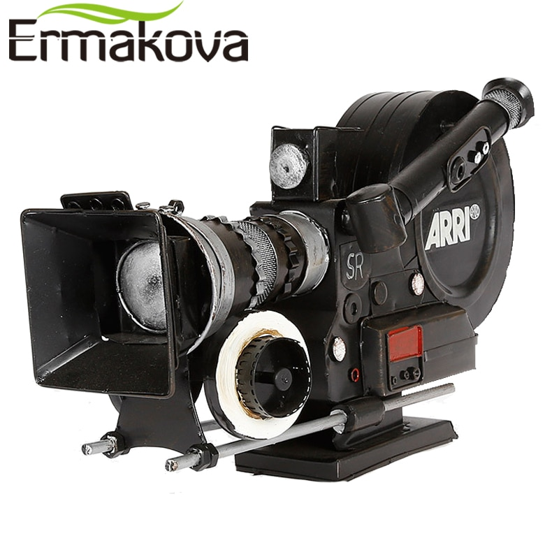 ERMAKOVA Snail Camera VCR Model Handmade Metal Crafts Retro Vintage Classic Antique Prop for Gift Home Decor Ornaments