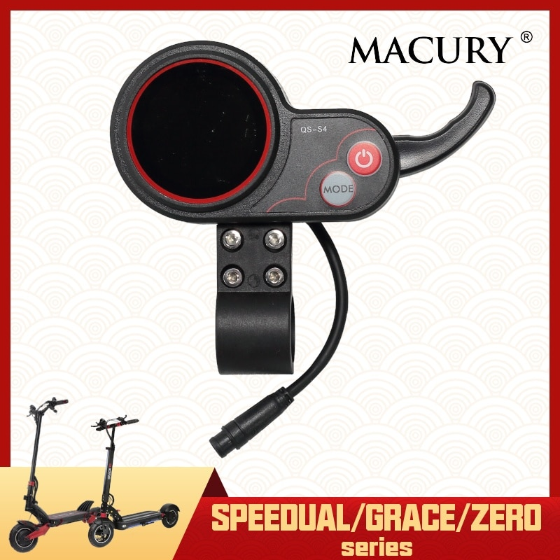 Pantalla LED de acelerador para Scooter Eléctrico Speedual Mini Grace de cero 8 9 10 8X 10X 11X QS-S4 LCD Macury V 36V 48V 52V 60V 72V
