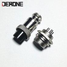 3pin Plug jack GX16-3 Mâle Femelle Ensemble 16mm Panneau Connecteur amplificateur Châssis Sockets Anschlusstecker