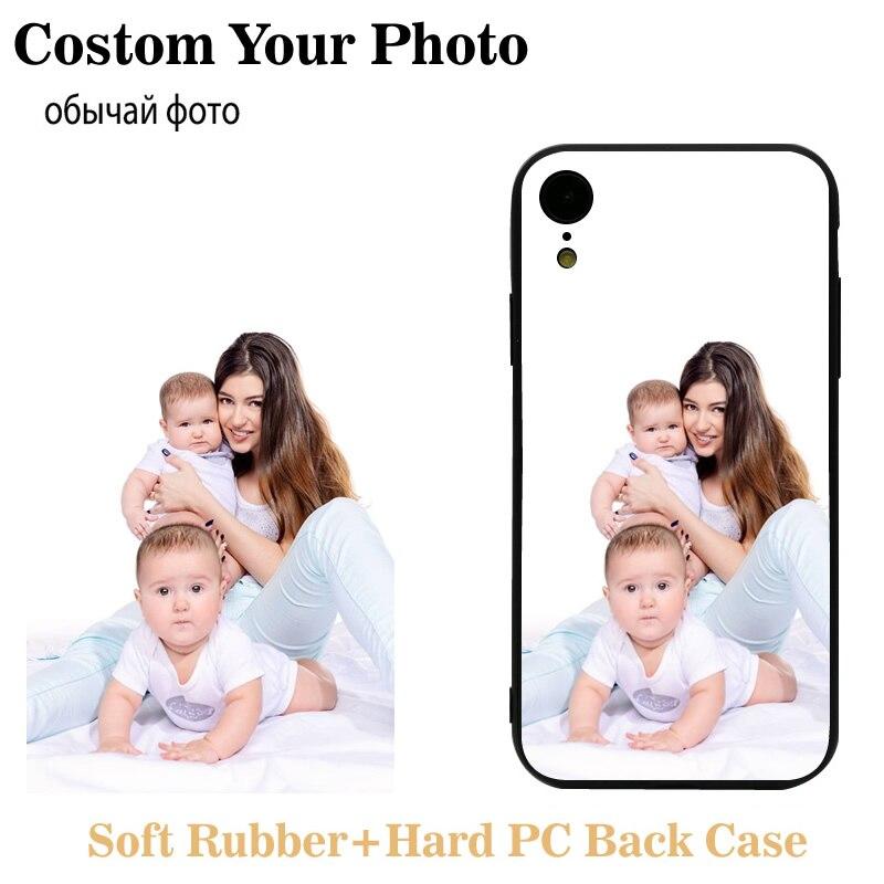 Fundas de teléfono personalizadas para iPhone 11 Pro Max Case 6S 7 8 Plus X XS XR Cover diseño personalizado imagen Logo nombre foto