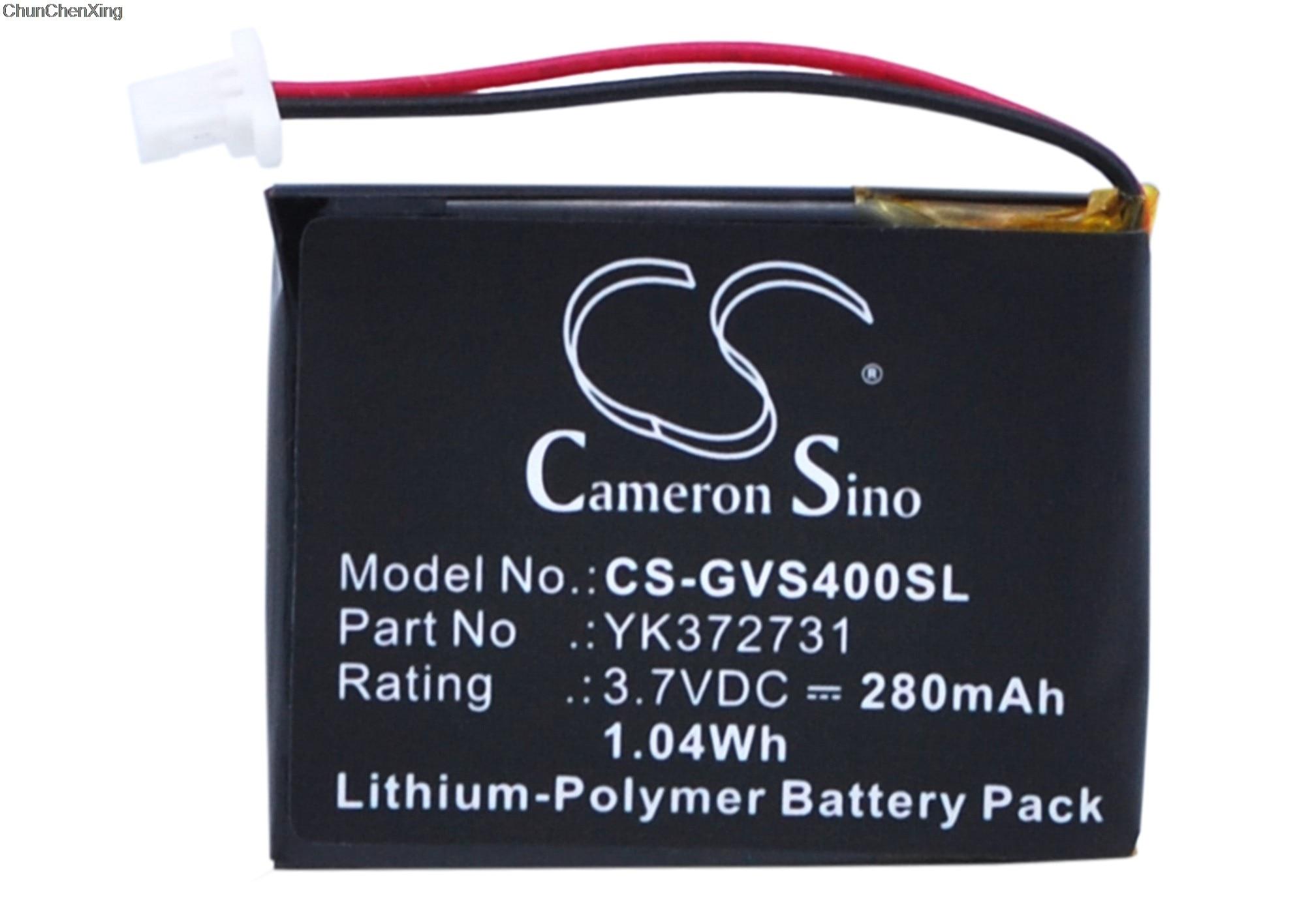 Batería de 280mAh Cameron Sino para Golf Buddy GB750, GB900, Voz 2, voz GPS telémetro, voz Plus, VS4 GPS telémetro, voz VS4