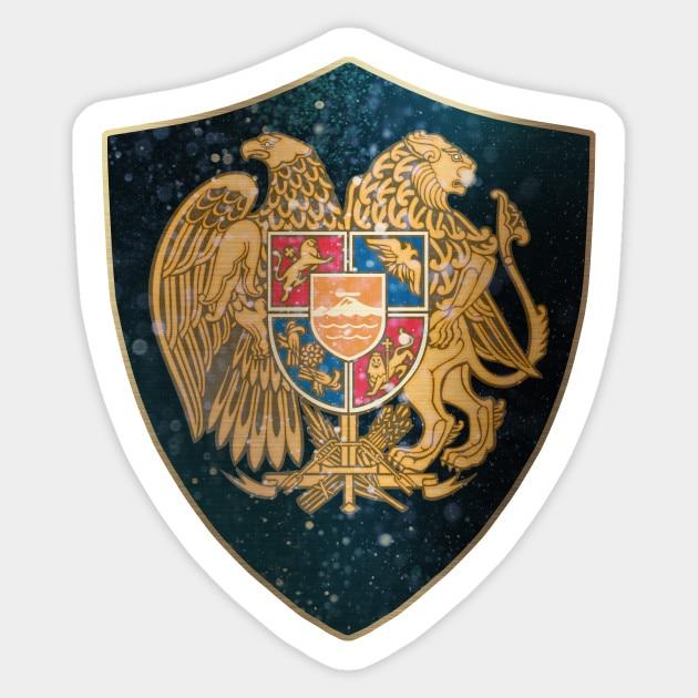 1 Uds Escudo de Armenia de armas y noches estrelladas escudo pegatina impermeable para coche Skateboard equipaje guitarra muebles pegatina
