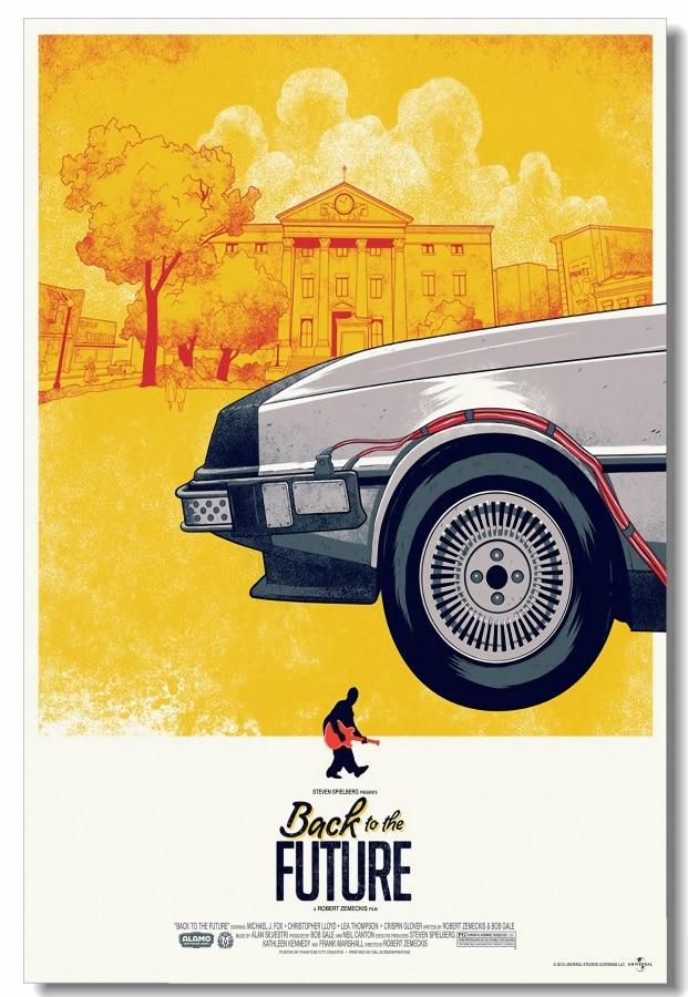 Custom Leinwand Wandbild Zurück In Die Zukunft Poster BTTF Sammlung Wand Aufkleber Esszimmer Dekoration Retro Wand Abziehbilder #0209#