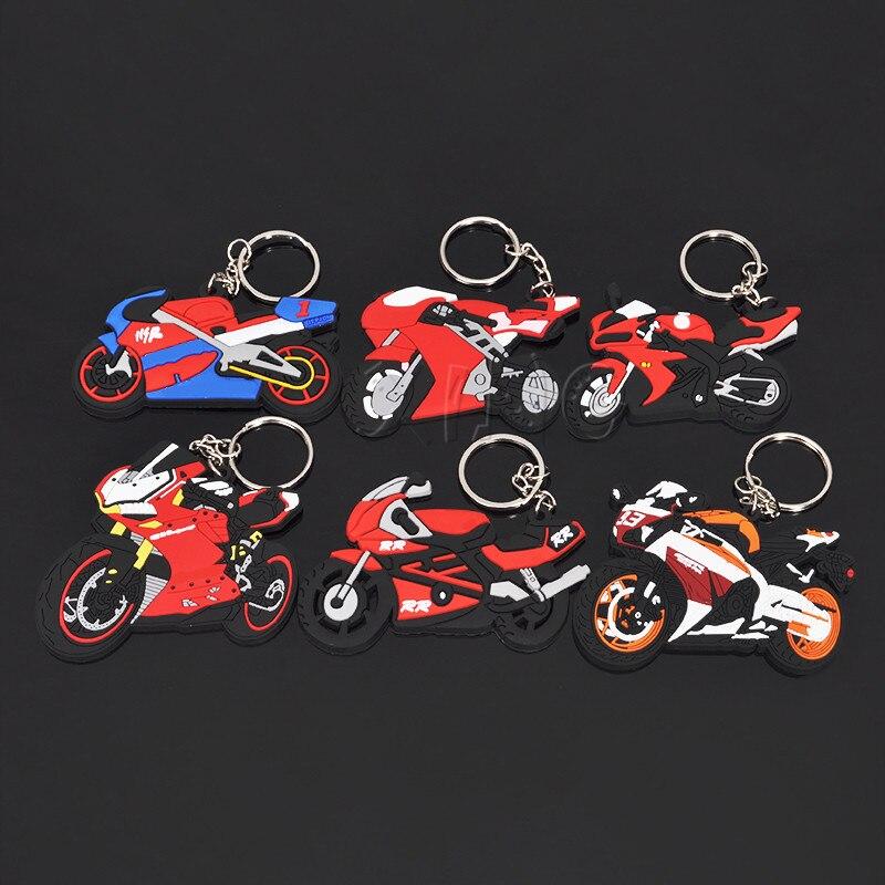 Llavero modelo de motocicleta llavero de Soporte para Llavero llavero de goma Chaveiro para Yamaha Honda CBR 93 RR accesorios de carreras de Motor