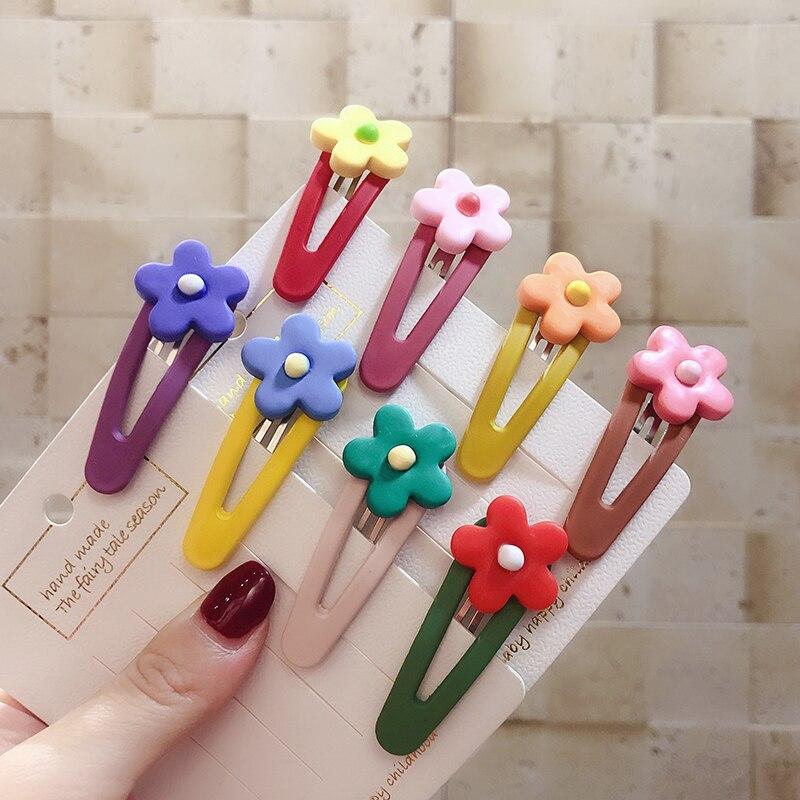 2019 moda coreano flor colorido permitir grampos de cabelo para meninas bebê criança acessórios para o cabelo crianças acessórios para el cabello