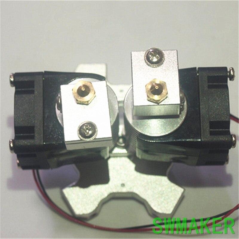 Аксессуары для 3D-принтера Delta Kossel V6, экструзионная печатающая головка, двойной набор, алюминиевый сплав, металл, М4, рыбий глаз, эффект
