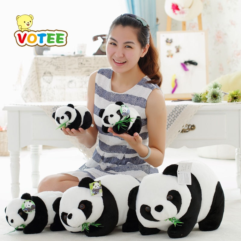 Adorável panda brinquedo de pelúcia crianças macio pequeno encantos pelúcia animal chaveiro brinquedos de pelúcia final fantasia dos desenhos animados brinquedo de pelúcia votee