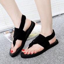 THINKTHENDO mode nouvelles femmes chaussures tongs EVA semelle tissu ceinture été Style bohème plage sandales
