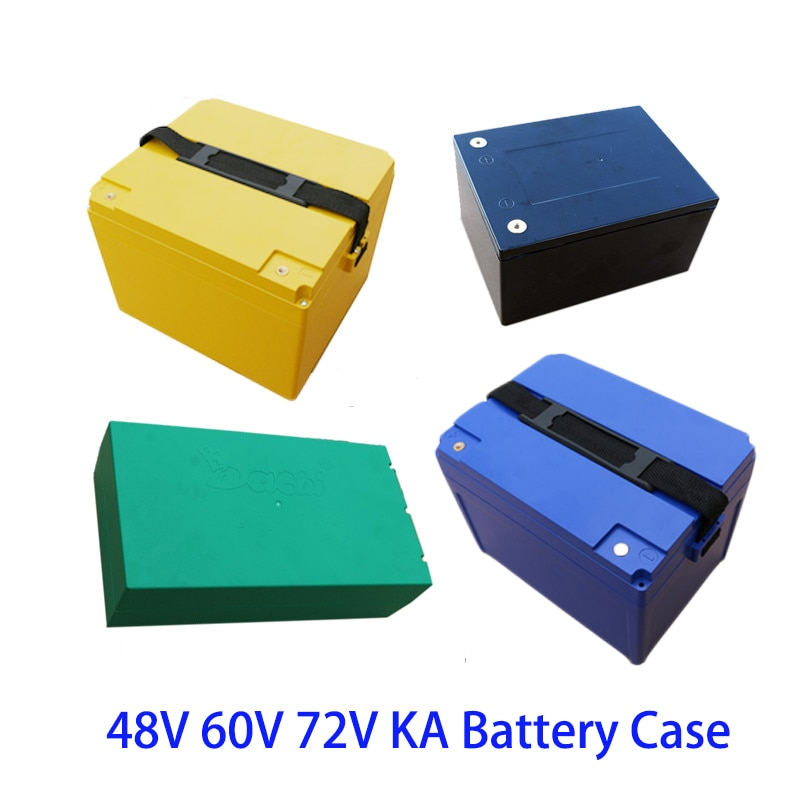 48V 60V 72V KA 20Ah 12Ah caja de batería de litio 18650 li-ion paquete celular funda carcasa soporte DIY EV eBike e-bike ABS impermeable