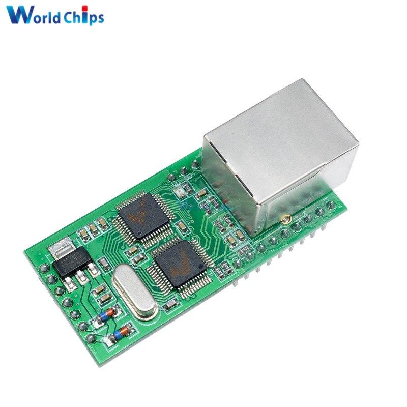 Ethernet superior a TTL RS232 Serial TTL a TCP/IP RJ45 convertidor Módulo de transmisión