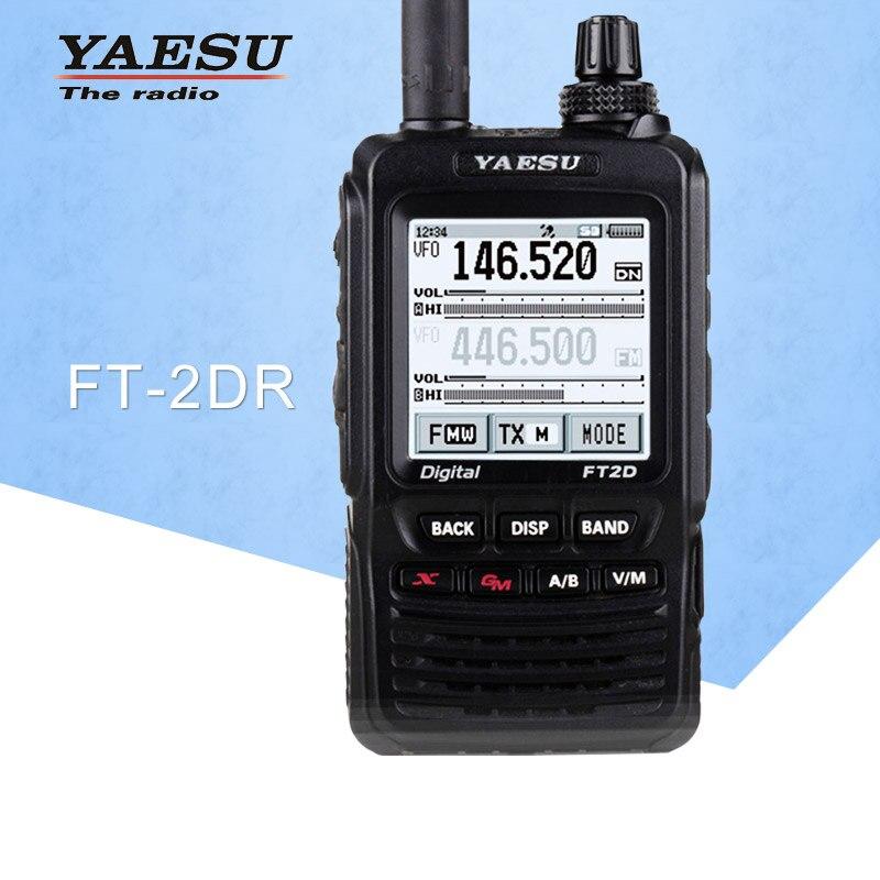 Walkie talkie geral para ft2dr duplo-banda 140-174/420-470 mhz fm ham transceptor de rádio em dois sentidos yaesu ft2dr walkie talkie