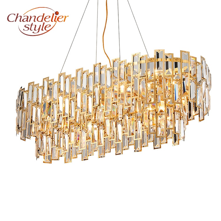 Modern Crystal Chandelier Lighting Fixture Luxury LED Cristal Chandeliers Hanging Lights for Home Living Dining Room Decoration  - buy with discount