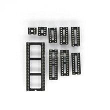 20 ADET IC Koltuk 6 8 14 16 18 20 24 28 64 pin 2.54mm Pin Aralığı MCU Soket çip Tabanı IC Yuva Yuvası Adaptörü Lehim Tipi