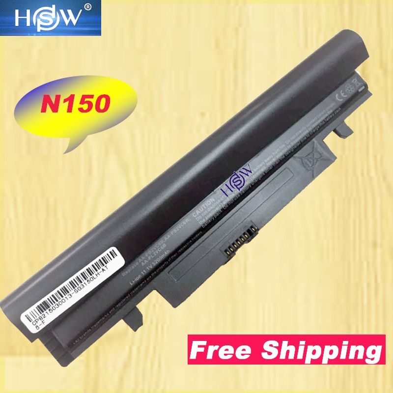 Batería HSW para SAMSUNG N143 N145 N148 N150 N250 N250P N260 N260P Plus, 6 celdas para ordenador portátil