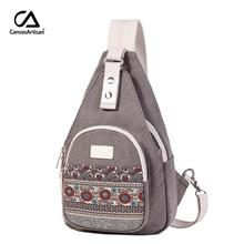 Canvasartisan nouveau sac à bandoulière en toile pour femmes Style rétro voyage quotidien petit sac à dos sac femme décontracté sacs à poitrine à fleurs