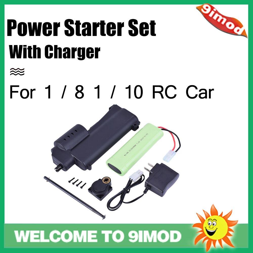 70111 potencia de arranque portátil eléctrica con cargador para 1/10 1/8 Vertex 16 18 21 25 SH 28 HSP Nitro RC pieza de coche