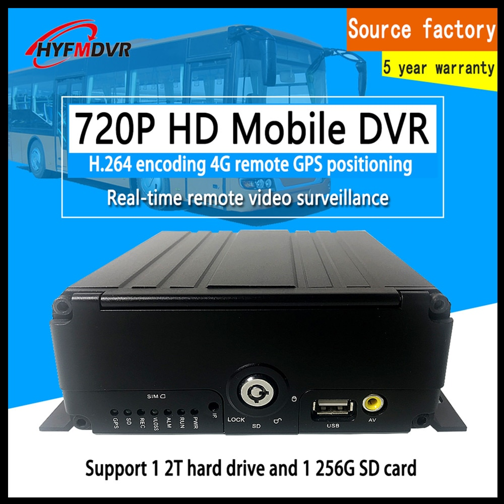 Disco Duro de monitoreo 4G GPS 4 canales + Grabación de ciclo de tarjeta SD DC8V-36V de amplio voltaje PAL/sistema NTSC MDVR barco/camión