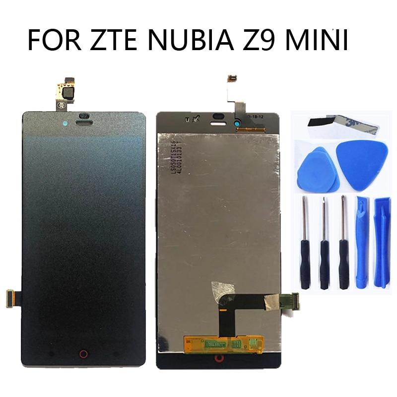 "5.0"" LCD screen for ZTE Nubia Z9 Mini z9mini nx511j original LCD screen + touch screen digitizer replacement kit + tools"