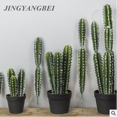 Aterciopelado Artificial Prickly Pear cactus suculento verde plantas flores bolas DIY decoración de la mesa de las plantas del desierto paisaje