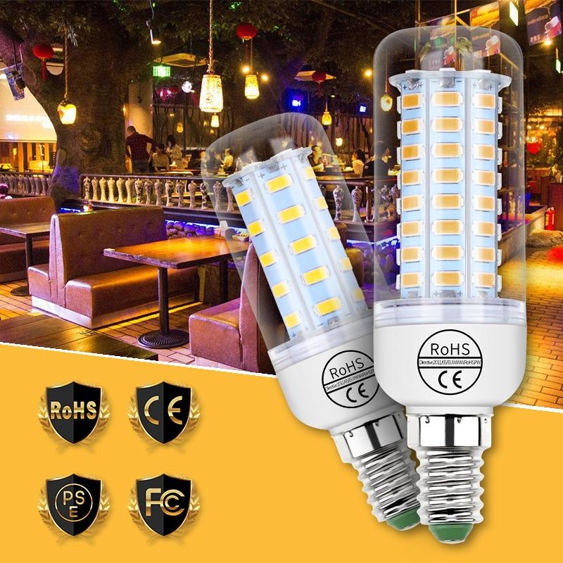 E27 LED 220V Light Corn Bulb E14 Led Lamp 5730 SMD GU10 Bombillas Candle Bulbs 24 36 48 56 69 72leds Lampada for Home