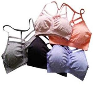 Free shipping/Women Custom Sport High Quality ladies beautiful bra sexy design Black stretch running bra with a nice back