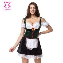 Oktoberfest allemand bière filles déguisement bavière Dirndl carnaval tenue de fête Sexy femmes Cosplay femme de chambre déguisement grande taille
