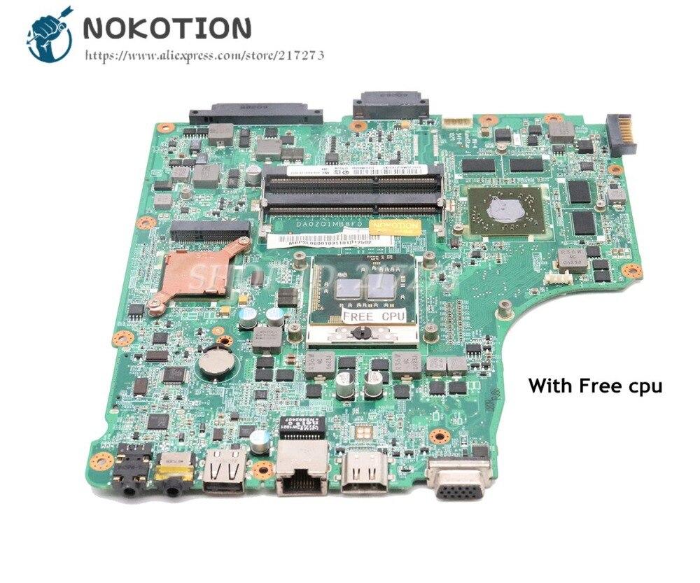 NOKOTION для Acer asipre 4745 4745G материнская плата для ноутбука MBPSL06001 DA0ZQ1MB8F0 HM55 DDR3 HD5650 1 ГБ Бесплатный процессор