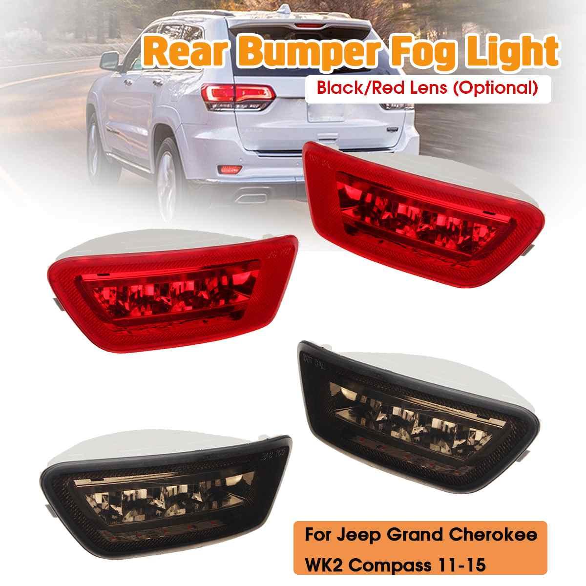 1 par de luces LED antiniebla para parachoques trasero, luces traseras, luces antiniebla para Jeep Grand Cherokee WK2 Compass Dodge Journey 2011-2018