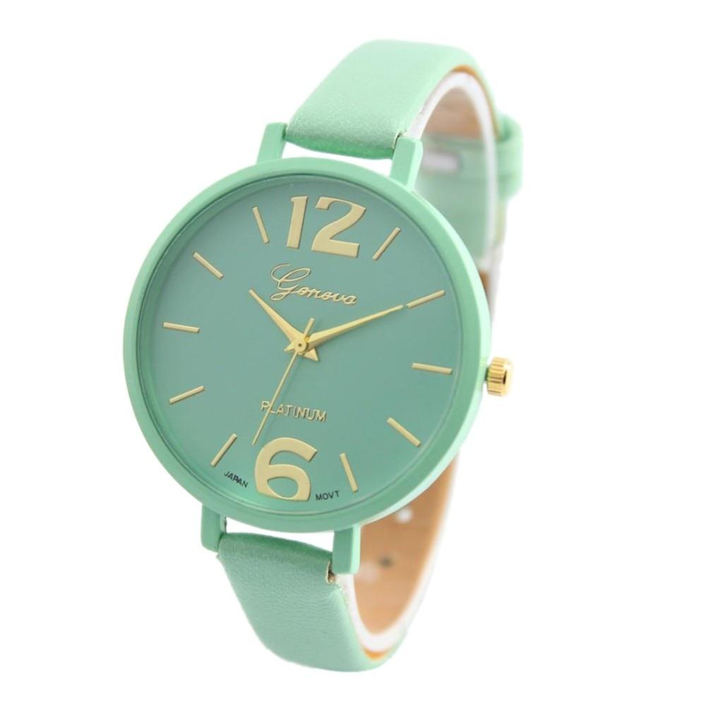 Spl Popular señoras remache Punk cadena Correa reloj pulsera Retro Cristal Diamantes de imitación reloj de cuarzo mujeres Relojes Mujer
