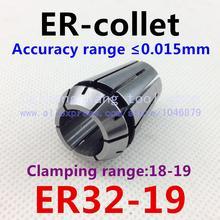 ER32-19. Pince ER. Collet. Matière acier à ressort 65 Mn. Précision 0.015mm. Plage de serrage 18-19mm. Spécifications ER32-19