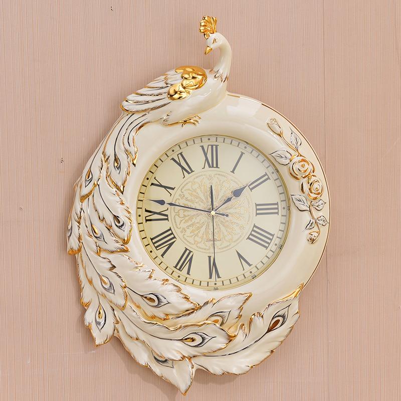 European luxury watch clock room of modern ceramic retro high-grade quartz clock wall clock luxury