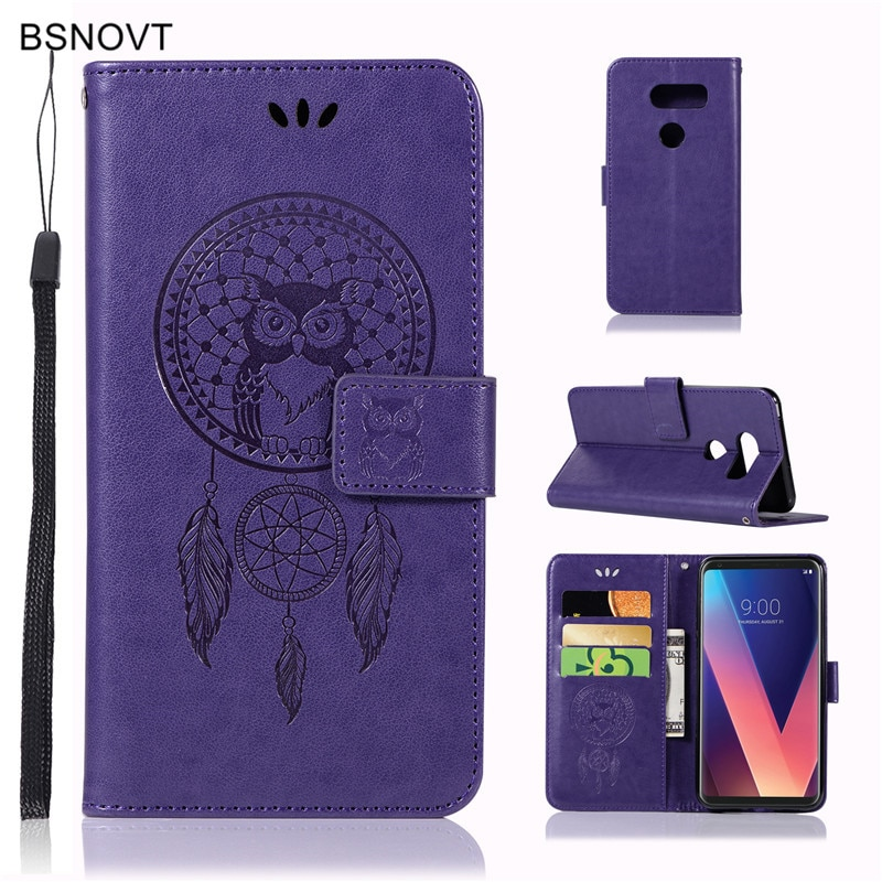 For LG V30 Case Soft Silicone Luxury Leather Wallet Filp Anti-knock Phone Case For LG V30 Cover For