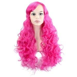Парики для косплея JOY & BEAUTY 28 цветов, длинные волнистые волосы из высокотемпературного волокна, синтетические волосы, розовый золотистый жел...