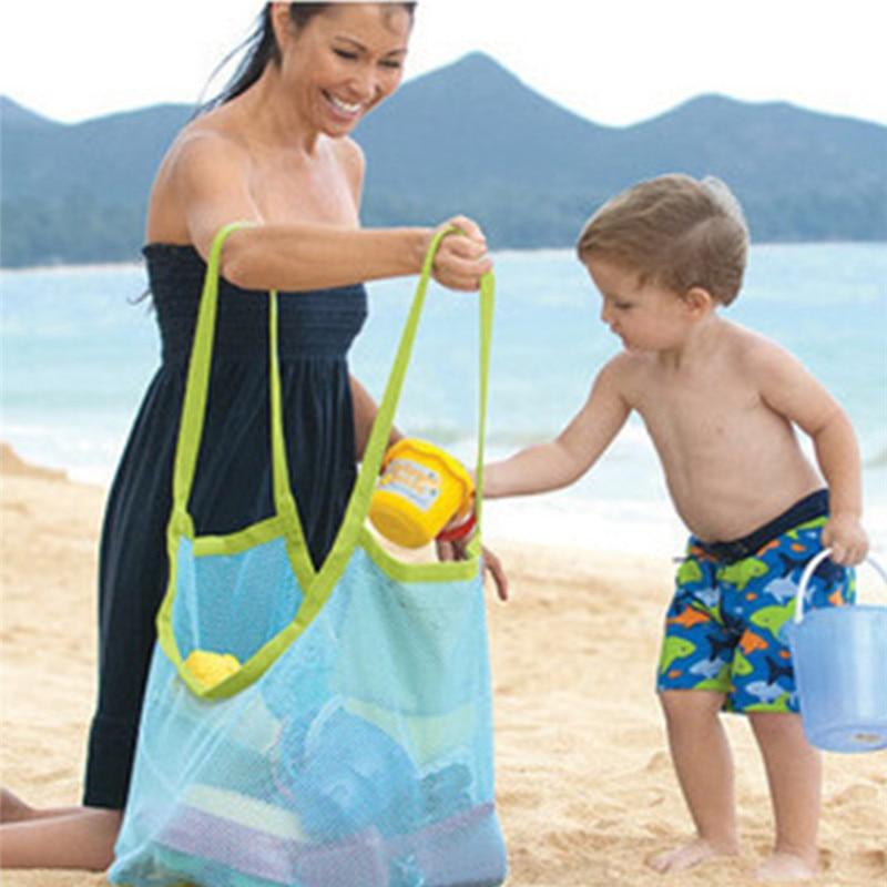 Anti Sand Beach Towel Bag Mesh Storage Case Child Kid Toy Place Hot