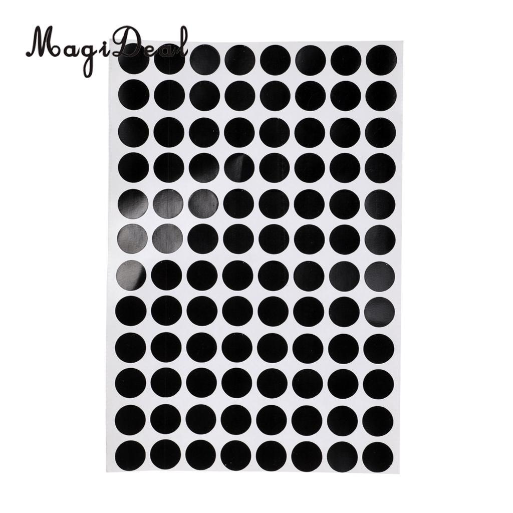 MagiDeal Professional Set de 30 Uds. 3/1, 2 cm, pegatinas para marcar puntos de mesa de billar negro, para mesa, juego de billar, Acce, autoadhesivo
