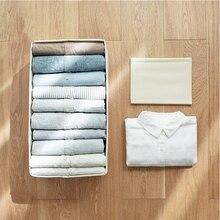 صندوق تخزين من قماش الكتان القطني من Baffect S/L مع 10 قطعة خزانة ملابس قابلة للطي لمنظم الخزانة المنزلية للكبار والأطفال