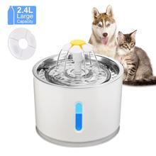 2.4L 2 Stijl Automatische Kat Fontein Voor Huisdieren Water Dispenser Grote Lente Drinkbak Kat Automatische Feeder Drinken Filter
