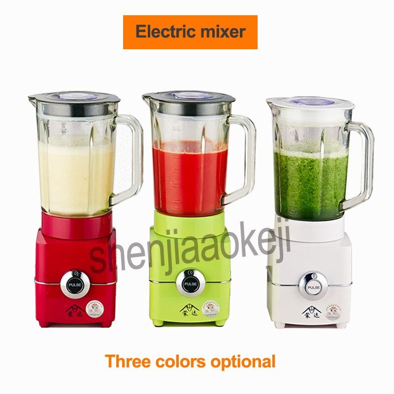 Licuadora de alimentos, exprimidor eléctrico de frutas y verduras para jugo/hielo/CARNE/leche de soja/molienda 1.5L, mezcladora de arena de hielo 220v 500w 1 ud.