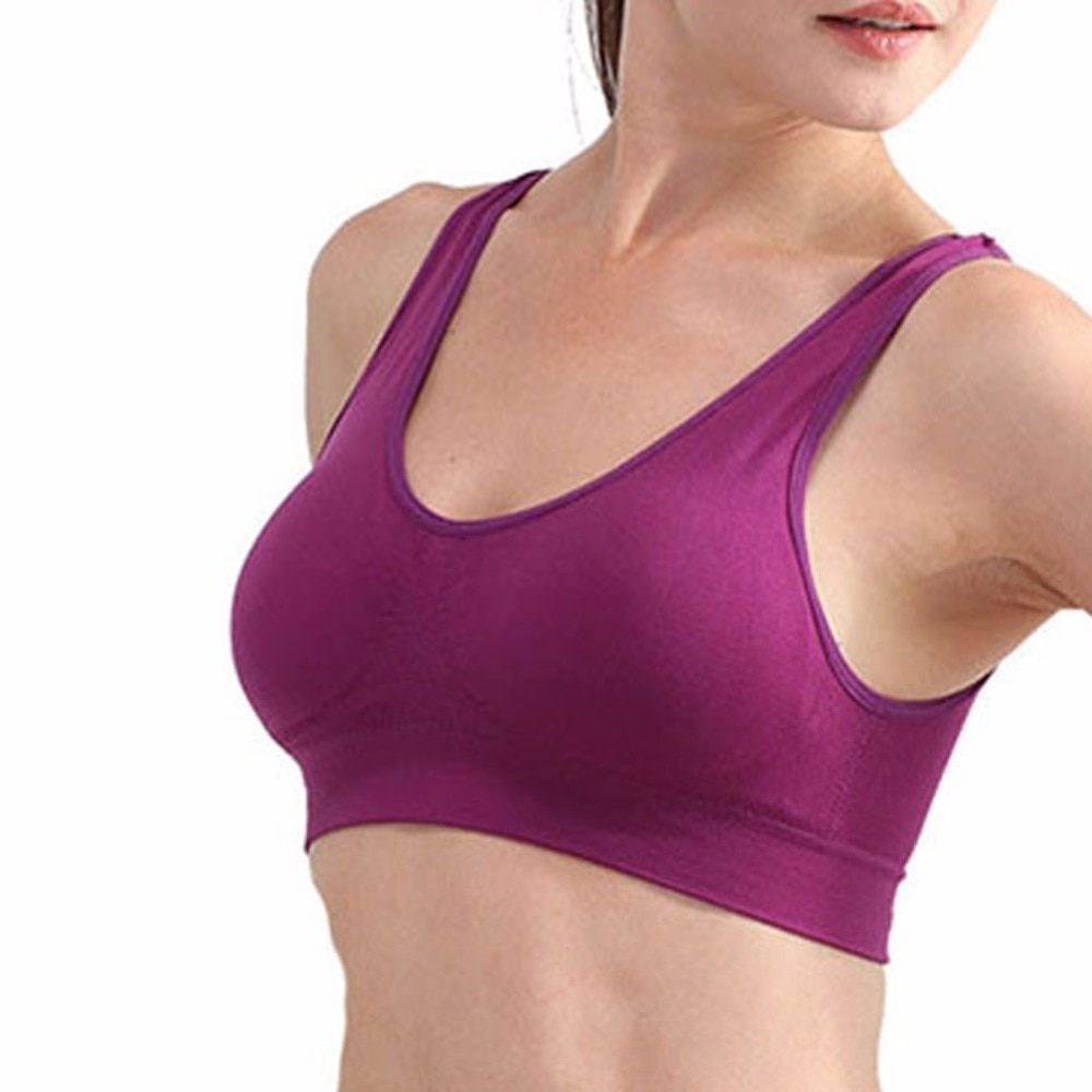 Women Soft Sports Bra Yoga Fitness Stretch Workout TankTop Seamless Padded Bra