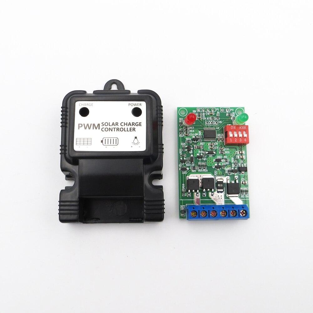 Controlador de carga de panel de células solares 6,4 V 12,8 V 3A para pequeños kits Solares regulador de baterías Li-ion LiFePO4 de litio