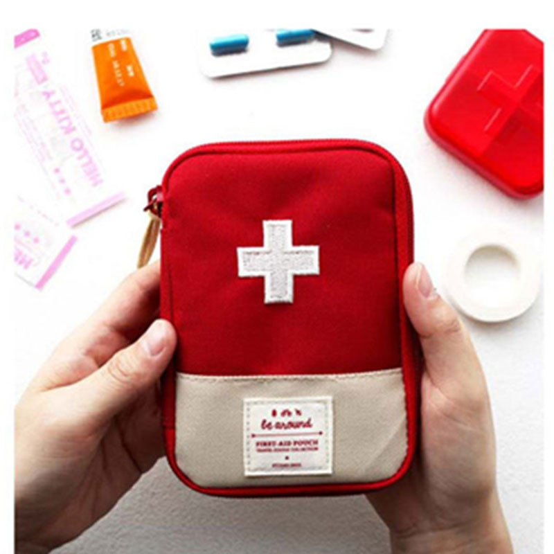 Mini kit médico de primeiros socorros, portátil, viagem ao ar livre, acampamento, útil, armazenamento de medicamentos, bolsa de sobrevivência de emergência, caso de pílulas