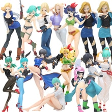 9-20cm Dragon Ball Z Girls Gals NO 18 Lazuli Ranchi Videl PVC Action Figure Figurine Dragonball Collectible Model Dolls Toys