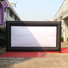 Pantalla de película de proyección inflable portátil 4.5X2.5m-juguete inflable